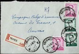 Doc. De TRIXHES - B B - Du 01/09/65  En Rec. ( Devant) - Postmark Collection