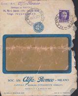 SOCIETA' ANONIMA ALFA ROMEO.MILANO 1932. - Pubblicitari
