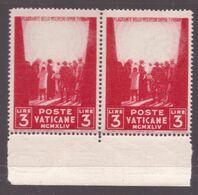 Vaticano, 3 Lire Pro Prigionieri Del 1945 Senza L'effigie Del Redentore Coppia Nuova **         -CV16 - Ungebraucht