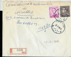 Doc. De TUBIZE - C C - Du 12/07/68  En Rec. ( E ) - Postmark Collection