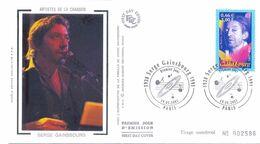Enveloppe 1er Jour, Personnages Célèbres 2001 - Serge Gainsbourg Yt 3393 - 2000-2009