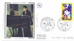 Enveloppe 1er Jour, Personnages Célèbres 2001 - Barbara Yt 3396 - 2000-2009