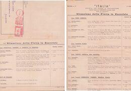 """SOCIETA' """"ITALIA """" Compagnia Di Navigazione. - Andere"""