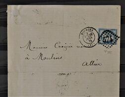 08 - 20 / France - Lettre De Bourges à Destination De Moulin - Intérieur Timbre Fiscal - 1871-1875 Cérès