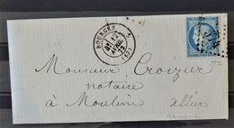 08 - 20 / France - Lettre De Bourge à Destination De Moulin - - 1871-1875 Cérès