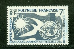Droits De L'Homme; French Polynesia / Polynésie Française; Scott # 191, Neuf Trace De Charnière (3346) - French Polynesia