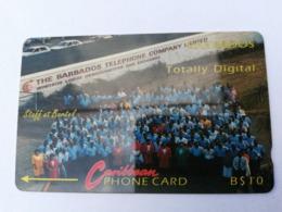 BARBADOS   $10-  Gpt Magnetic     BAR-6Aa  6CBDA     TOTALLY DIGITAL  NO  LOGO    Very Fine Used  Card  ** 2868**RRRRR - Barbades