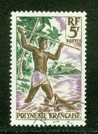 Pêche / Fishing; Polynésie Française / French Polynesia; Scott # 193; Usagé (3348) - Polinesia Francese