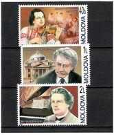 Moldova 2005 .  Composers. 3v: 40b, 1L, 2L.  Michel # 514-16 - Moldavia