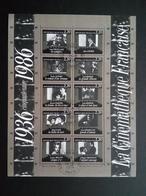 FRANKREICH BLOCK 7 GESTEMPELT(USED) FILM CINEMA 1936-1986 STEMPEL PARIS - Blocs & Feuillets