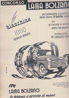 (pagine-pages)PUBBLICITA' LAMA BOLZANO  Tempo1957. - Autres