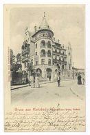 Gruss Aus Karlsbad Evangelisches Hospiz Westend 1900 Postkarte Ansichtskarte - Sudeten