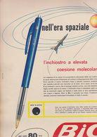 (pagine-pages)PUBBLICITA' BIC  Tempo1958. - Autres
