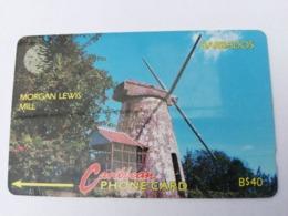 BARBADOS   $40-  Gpt Magnetic     BAR-10C  10CBDC   MORGAN LEWIS M     NEW  LOGO         Very Fine Used  Card  ** 2880** - Barbades