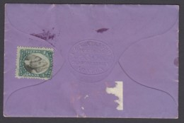 US Sc RB2a, Used On Document (Violet Sachet Powder, J. & E. Atkinson Of London) - Revenues