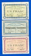 Lons  Le  Saunier  3  Billets - Chambre De Commerce