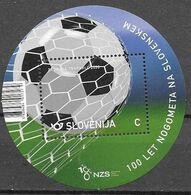 SLOVENIA, 2020, MNH, FOOTBALL, SOCCER, 100 YEARS OF SLOVENIAN FOOTBALL, S/SHEET - Otros