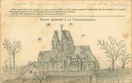 Cpa Dessin Eglise De VAISSY 02 Guerre 1914-1918 Sur Carte Franchise Drapeaux - Andere Gemeenten