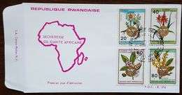 Rwanda - FDC 1969 - YT N°311 à 314 - Plantes Médicinales / Flore - Rwanda