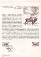 COLLECTION HISTORIQUE DU TIMBRE POSTE FRANCAIS / PROTECTION DE LA NATURE BISON D EUROPE / 25 MAI 1974 / MOUZON - Postdokumente