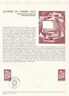 COLLECTION HISTORIQUE DU TIMBRE POSTE FRANCAIS / JOURNEE DU TIMBRE 1974 / 9 MARS 1974 / PARIS - Postdokumente