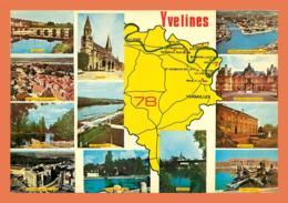 A610 / 355 78 - YVELINES Carte Géographique Multivues - France