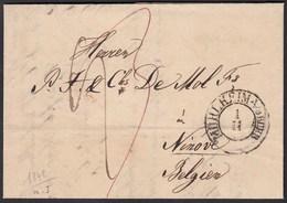 Mülheim A/D Ruhr K2 1843 Brief Nach NINOVE BELGIUM Taxiert  Mit Inhalt   (27338 - Postzegels