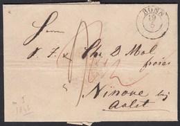 Bonn K2 1843 Brief Nach NINOVE BELGIUM Mit Inhalt Taxiert   (27337 - Postzegels