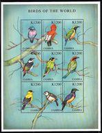2000 Zambia Birds Of The World Minisheets (** / MNH / UMM) - Passereaux