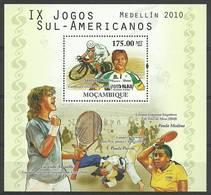 Mozambique 2010 Mi Bl 387 MNH ( ZS6 MZBbl387 ) - Tennis