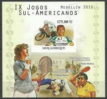 Mozambique 2010 Mi Bl 387B MNH ( ZS6 MZBbl387B ) - Tennis