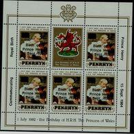 PENRHYN 1984 BIRTH OF PRINCE HENRY MINI SHEET MNH VF !! - Penrhyn