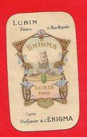 Carte Parfumée Ancienne - Lubin ; Parfumée à L'Enigma - Vintage (until 1960)