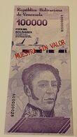 VENEZUELA NEW - 100.000 10000 Bolivares 2019 - Venezuela