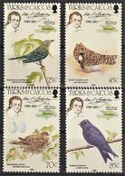 1985 Turks And Caicos Islands Audubon Birth Bicentenary Set And Souvenir Sheet (** / MNH / UMM) - Unclassified