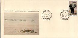 South West Africa - 1983 Namibia Wildlife Trust Cover - Elefantes