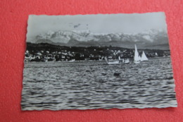 Zurich Blick Auf See Und Alpen 1947 + NO Stamps - ZH Zurich