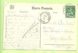 110 Op Kaart Stempel TERVUEREN Naar CORTENBERG  (1681) - 1912 Pellens