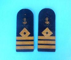 YUGOSLAVIA KINGDOM - Merchant Navy - Complette Of Two Old Ranks * Rank Grade Militaire Grado Militare Rang - Bateaux