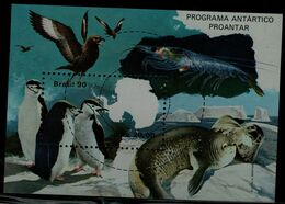 BRAZIL 1990 PENGUINS BLOCK MI No BLOCK 82 MNH VF!! - Pingouins & Manchots
