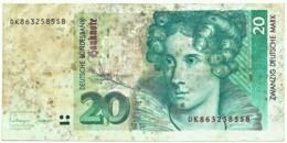 Germany - Federal Republic - 20 Deutsche Mark - 01.10.1993 - Pick: 39.b - [ 7] 1949-… : RFD - Rep. Fed. Duitsland