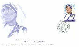 (G 22) Cyprus / Chypre - 2002 - Mother Teresa FDC - Premier Jour Mère Theresa - Sainte Teresa - Christianity