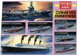 (G 21) Sticker - Autocollant - CVN 69 USS Eisenhower - Boats