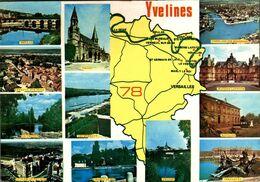 Yvelines Carte Du Departement       CPM Ou CPSM - France