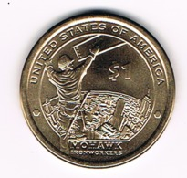 "1 Dollar ""Native American Dollar"", Mohawk Ironworkers, UNC, 2015 - Émissions Fédérales"