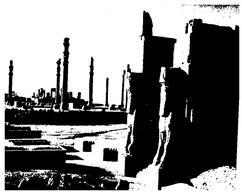 (G 24)  Iran (maxicard) Apadana Palace (black & White Picture) - Iran