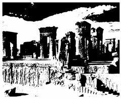 (G 24)  Iran (maxicard) Darius Palace (black & White Picture) - Iran