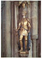 (G 24)  Statue Of Joan Of Arc - Winchester Cathedral (UK) With Stamps - Churches & Cathedrals