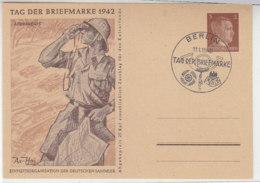 Ganzsache Tag Der Briefmarke AFRIKAKORPS Blanko Stempel BERLIN 11.1.42 - Brieven En Documenten