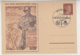 Ganzsache Tag Der Briefmarke DEUTSCHE FELDPOST Blanko Stempel BERLIN 11.1.42 - Brieven En Documenten
